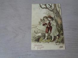 Pâques ( 249 )  Pasen  -  Carte Gaufrée  Reliëf  -  Enfant  Kind - Pâques