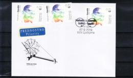3333 D48 Slowenien Slovenia 2019  Traveled Airmail FDC To Your Address 150th Ann. Mahatma Gandhi India - Mahatma Gandhi