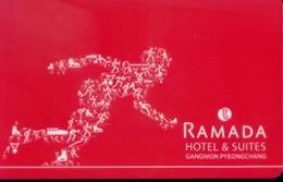 South Korea Hotel Key, Ramada Hotel & Suites Gangwon Pyeongchang  (1pcs) - Korea (Zuid)