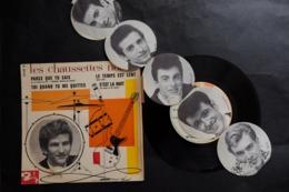 45 T EP LES CHAUSSETTES NOIRES PARCE QUE TU SAIS + 3 LANGUETTE PHOTO DEPLIANTE EDDY MITCHELL BARCLAY 70470 - 45 Rpm - Maxi-Single