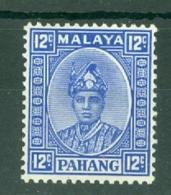Malaya - Pahang: 1935/41   Sultan Abu Bakar    SG38     12c    MH - Pahang