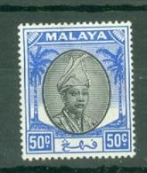 Malaya - Pahang: 1950/56   Sultan Abu Bakar    SG70      50c       MH - Pahang