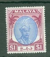 Malaya - Pahang: 1950/56   Sultan Abu Bakar    SG71      $1       MH - Pahang