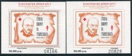 MACEDONIA 1995 Anti-Tuberculosis Week  Blocks MNH / **.  Michel 82 Block 16A-B - Mazedonien