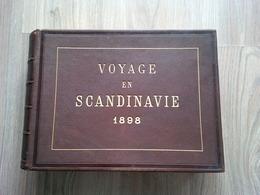 MAGNIFIQUE ALBUM PHOTO VOYAGE EN SCANDINAVIE 1898 TRES BELLES PHOTOGRAPHIES - Album & Collezioni