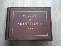 MAGNIFIQUE ALBUM PHOTO VOYAGE EN SCANDINAVIE 1898 TRES BELLES PHOTOGRAPHIES - Alben & Sammlungen