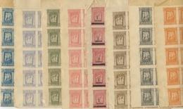 Serie Completa 8 Valori Grecia Epiro Francobolli Occupazione In Fogli Integri Nuovi Di 143 Pz. (13x11) Rarissimi - Neufs