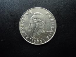 POLYNÉSIE FRANÇAISE : 20 FRANCS   1993    KM 9     SUP - French Polynesia