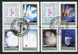 MACEDONIA 1992 Anti-Cancer Week Tax Used.  Michel 2-9 - Mazedonien