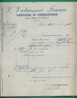 Italie Turin Torino Valvassori Franco Papeterie Cartiera Di Germagnano 23 01 1908 - Italie