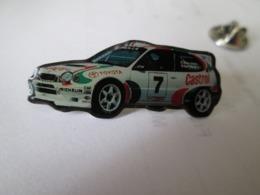 PIN'S    TOYOTA  COROLLA  WRC  DIDIER AURIOL - Rallye
