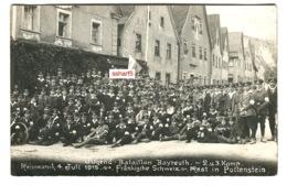 Foto Bayreuth Jugendwehr Jugend In Uniform 1915 REISEMARCH Rast In POTTENSTEIN Soldaten 1.Weltkrieg - Pottenstein