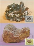 Carte Maximum - Taiwan - 4 Cards - Minerals - Aragonite - Alunite - Hokutolite - Enargite - 1945-... Repubblica Di Cina