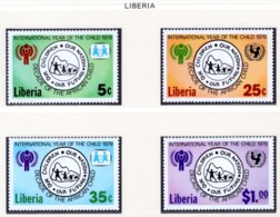 YEAR INTERN. OF CHILD - LIBERIA - Mi. Nr. 1390/1393 - NH - (6532-32.) - Liberia