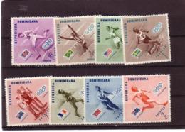 DOMINICAINE 1957 JO MELBOURNE  Yvert: 457/61-A108/10 NEUF MNH** - Summer 1956: Melbourne