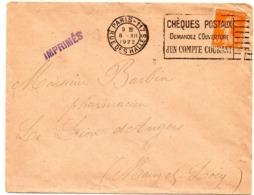 PARIS 117 / Rue Des HALLES 1922 =  FLAMME FLIER  'CHEQUES POSTAUX = DEMANDEZ OUVERTURE / COMPTE  ' - Marcophilie (Lettres)