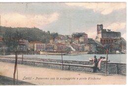 B3391 - Lerici, Panorama Con La Passeggiata E Ponte D'imbarco, Viaggiata 1910 Francobollo Parzialmente Asportato. - Italia