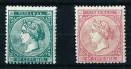 Antillas (España) Nº 14/15 Nuevo Cat.31,50€ - Cuba (1874-1898)