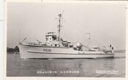 Bateau - Dragueur LAURIER - Marine Nationale - Carte Photo Marius Bar - Non écrite - Guerra