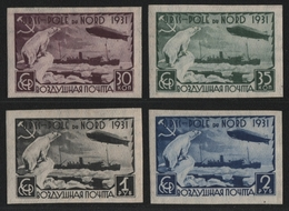 Russia / Sowjetunion 1931 - Mi-Nr. Lot Ex 402-405 A & B ** - MNH - Polarfahrt - 1923-1991 UdSSR