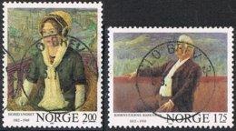 1982 - NORVEGIA / NORWAY - SCRITTORI / WRITERS - USATO / USED - Norvegia