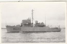 Bateau - Dragueur Océanique BERLAIMONT - Marine Nationale - Carte Photo Marius Bar - Non écrite - Guerra