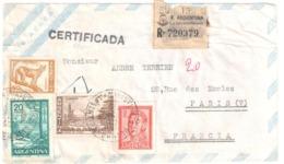 ARGENTINA Exp Horacio MAINAR Buenos Aires Registrada 1962 To Paris Via Aera CERTIFICADA Suc 132 - Argentinien