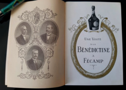 1929 LIVRET + INVITATION VISITE A LA BENEDICTINE FECAMP PHOTO DISTILLERIE ETIQUETAGE USINE ATELIER 76 NORMANDIE ALCOOL - Alcohols