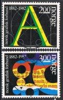1982 - NORVEGIA / NORWAY - CENTENARIO GRAFICI NORVEGESI / CENTENARY OF NORWEGIAN GRAPHICS - USATO / USED - Norvegia