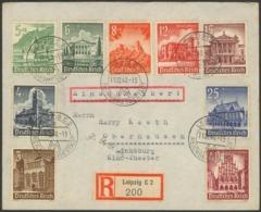 Germany - Registered Cover. MiNr. 751-759 MiF Set. Leipzig 11.12.1940 - Oberhausen. - Germania