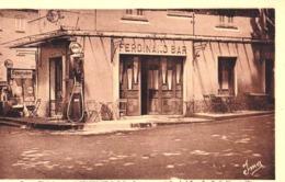 CPA  : Puget Théniers (06) Ferdinand Bar  Pompe Essence Standard Esso Essolube   Ed Vial Digne Rare  Voyagée - Andere Gemeenten