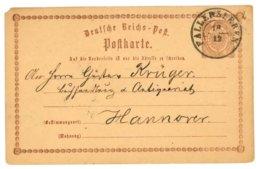 Deutsche Reichs-Post, Postkarte, Fallersleben 1873 Nach Hannover - Preussen