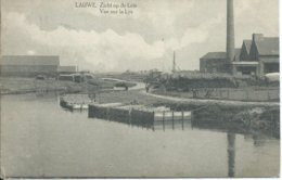 Lauwe,Zicht Op De Leie-Vue Sur La Lys 1922 - Autres