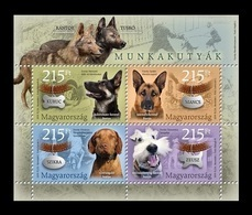 Hungary 2019 Mih. 6058/61 (Bl.429) Fauna. Working Dogs MNH ** - Hungría