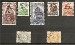 PAPUA NEW GUINEA 1960 POSTAGE DUES SG D2/D6, D13, D14 FINE USED Cat £15+ - Papua New Guinea