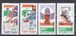 Vietnam 1989 - INDIA'89 Et Centenaire De La Naissanse De Jawaharlal Nehru, Mi-Nr. 1999/2002, Dent., MNH** - Vietnam