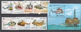 Vietnam 1989 - Helicopteres, Mi-Nr. 2014/20+Bl. 68, Dent., MNH** - Vietnam