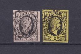 Sachsen - 1851/55 - Michel Nr. 4+6 - Gest.- 55 Euro - Sachsen