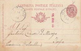 Genzano. 1899. Annullo Grande Cerchio GENZANO, Su Cartolina Postale Completa Di Testo - 1900-44 Vittorio Emanuele III
