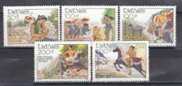 Vietnam 1989 - La Legende De Giong, Mi-Nr. 2058/62, Dent., MNH** - Vietnam