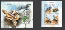 TG425 2014 TOGO TOGOLAISE FAUNA REPTILES TURTLES LIZARDS SNAKES CROCODILES KB+BL MNH - Reptiles & Anfibios