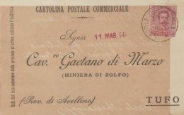 Savoia Di Lucania. 1899. Annullo Grande Cerchio SAVOIA DI LUCANIA, Su Cartolina Postale Commerciale - Marcofilie