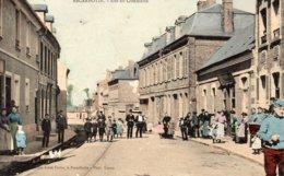 "80 ESCARBOTIN ( Somme )   Rue Du Commerce . "" Grose Animatin "" - France"