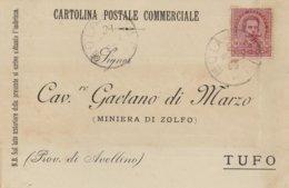 Mola Di Bari. 1899. Annullo Grande Cerchio MOLA DI BARI, Su Cartolina Postale Commerciale - Storia Postale