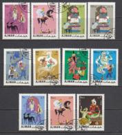 Ajman 1967. Oriental Fairytale - Arabian Nights. 11v. Gest, Used. - Ver. Arab. Emirate