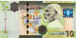 "LIBYA 10 DINARS ND 2011 Series 7A. P-78 VF ""free Shipping Via Regular Air Mail (buyer Risk)"" - Libya"