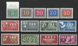 SBK 262-74, Mi 447-59 ** MNH - Switzerland