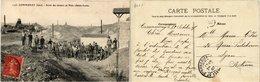 CPA COMMUNAY Sortie Des Mineurs Au Puits Ste-Lucie. (379478) - Autres Communes