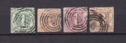 Thurn Und Taxis - 1859/64 - Michel Nr. 20+28/29+31 - Gest. - 90 Euro - Thurn En Taxis