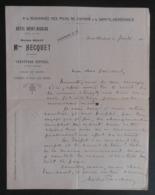 Correspondance Personnelle Sur Papier à Entête De L'Hôtel Saint-Nicolas - Maison Rolot - Hecquet à Sainte-Menehould - Manuscripts